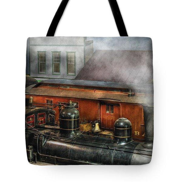 Train - Yard - The Train Yard II Tote Bag by Mike Savad