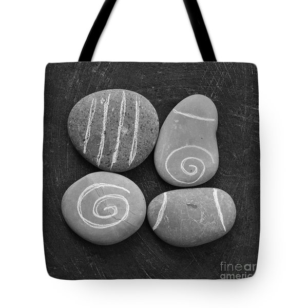 Tranquility Stones Tote Bag by Linda Woods