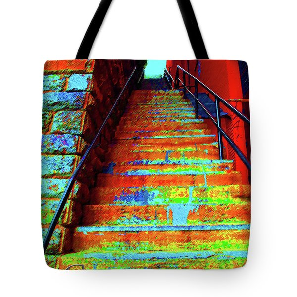 Travel-exorcist Steps Tote Bag by Jost Houk