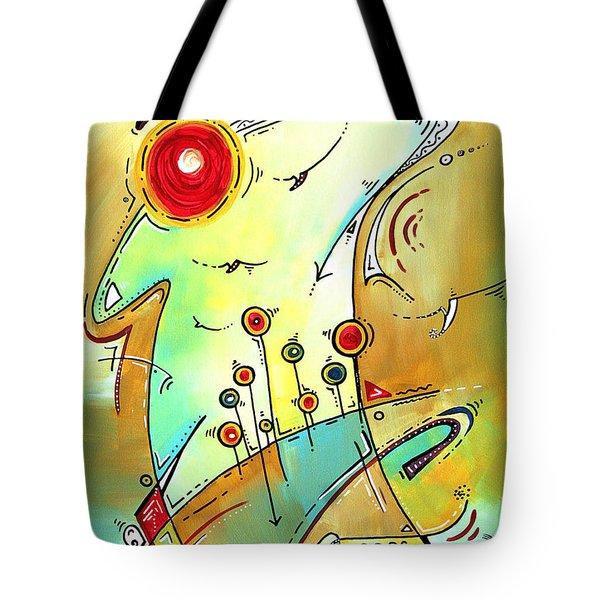 Traveling Band Original Painting MADART Tote Bag by Megan Duncanson