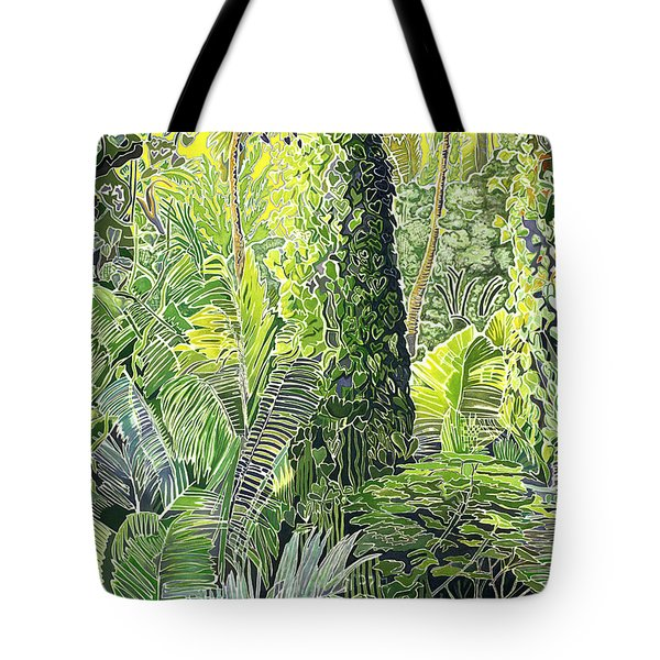 Tree In Garden Tote Bag by Fay Biegun - Printscapes