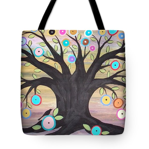 Tree Of Life And Bird Tote Bag by Karla Gerard