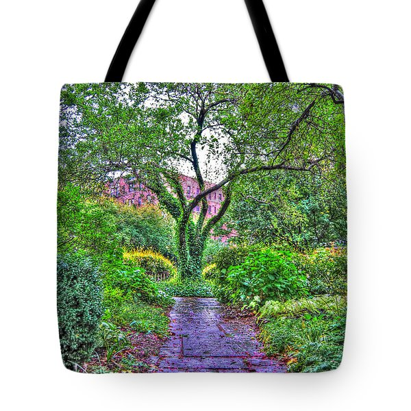 Tree Of Life At St. Luke In The Field Church Tote Bag by Randy Aveille