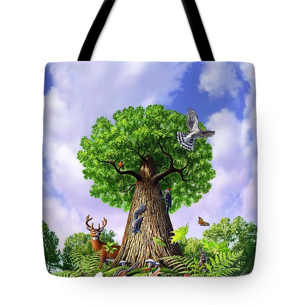 Tree Of Life Tote Bag by Jerry LoFaro