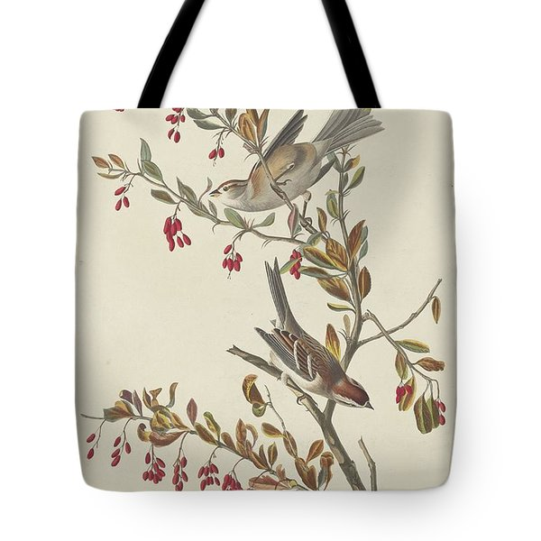 Tree Sparrow Tote Bag by John James Audubon