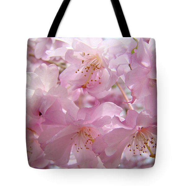 Tree Spring Pink Flower Blossoms art print Baslee Troutman Tote Bag by Baslee Troutman