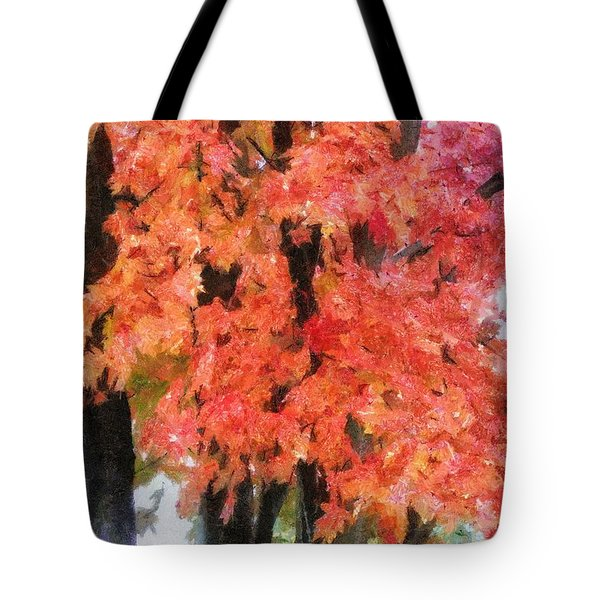 Trees Aflame Tote Bag by Jeff Kolker