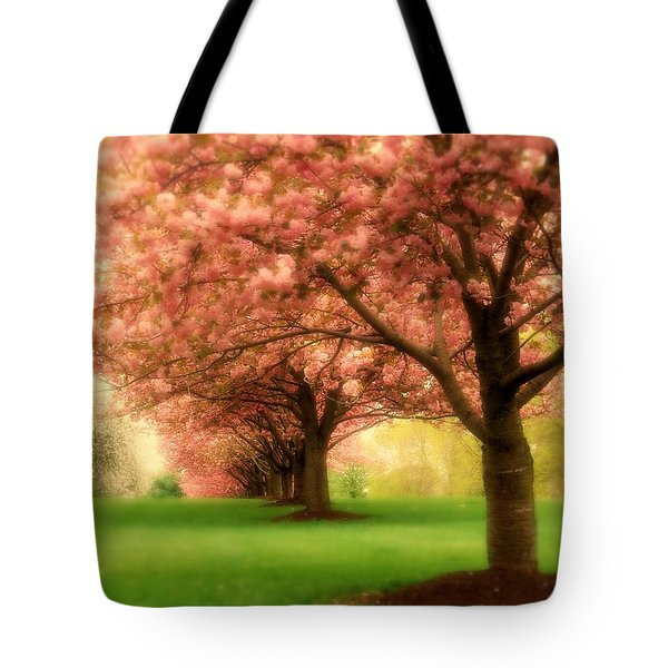 Trees In A Row Tote Bag by Angie Tirado