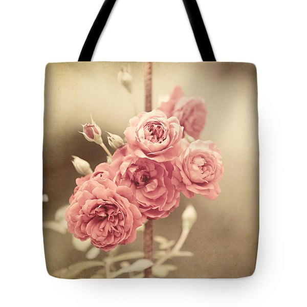 Trellis Roses Tote Bag by Lisa Russo