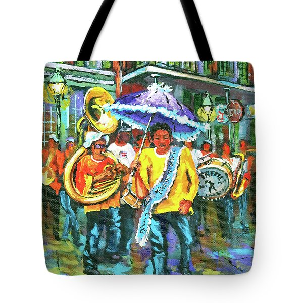 Treme Brass Band Tote Bag by Dianne Parks