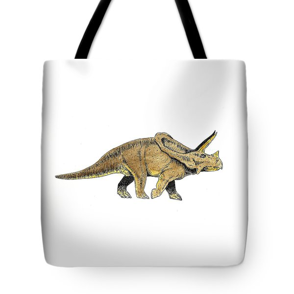 Triceratops Tote Bag by Michael Vigliotti
