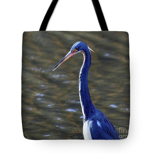 Tricolored Heron Pose Tote Bag by Al Powell Photography USA