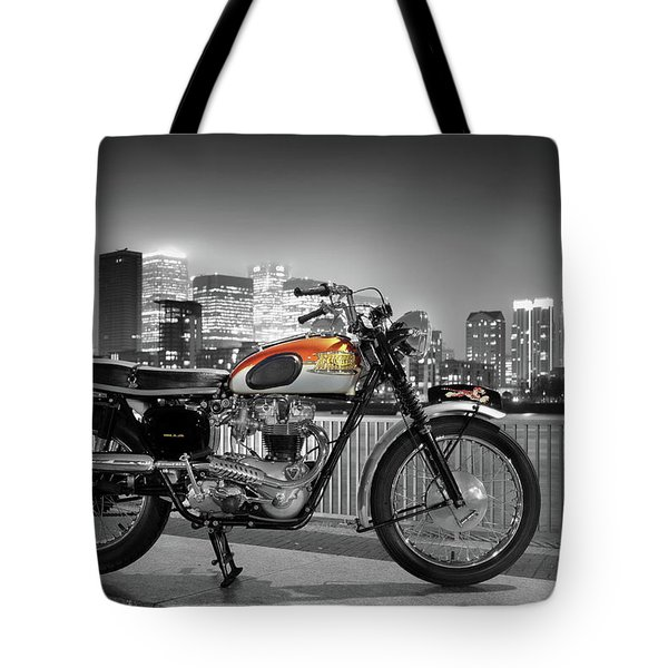 Triumph Bonneville 1962 Tote Bag by Mark Rogan