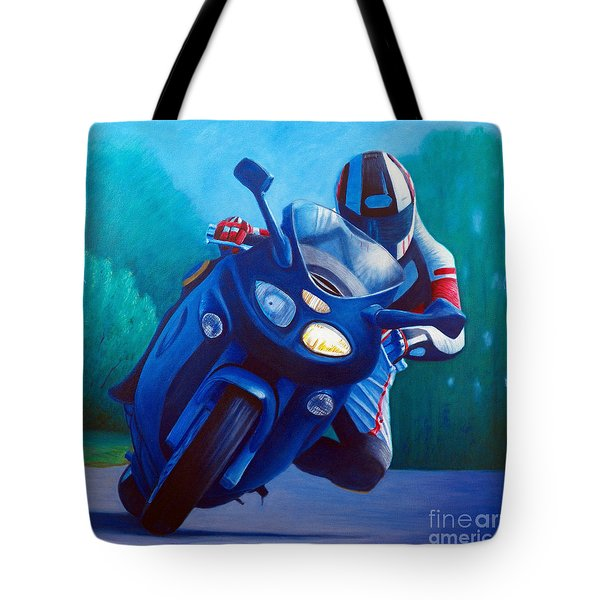 Triumph Sprint - Franklin Canyon  Tote Bag by Brian  Commerford