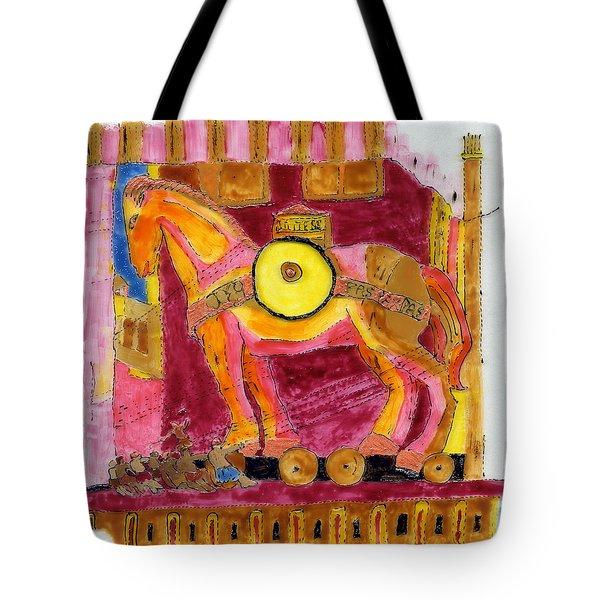 Trojan Horse Tote Bag by Phil Strang