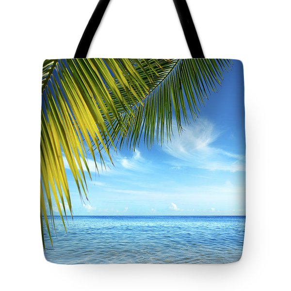 Tropical Beach Tote Bag by Carlos Caetano