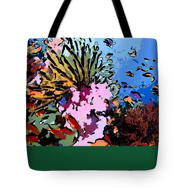 Tropical Coral Reef  2 Tote Bag by Lanjee Chee