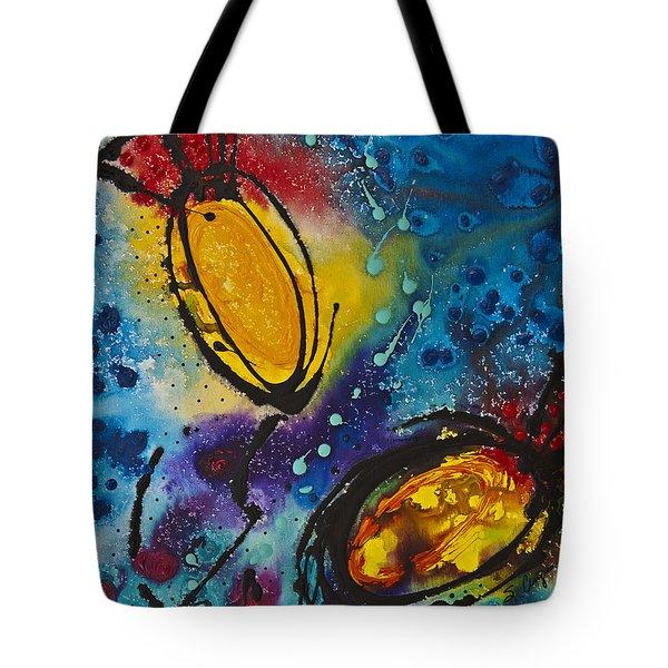 Tropical Flower Fish Tote Bag by Sharon Cummings