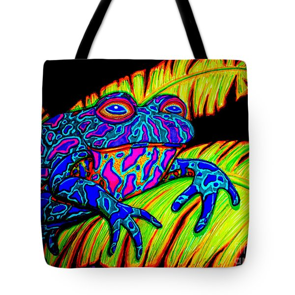 Tropical Frog Tote Bag by Nick Gustafson