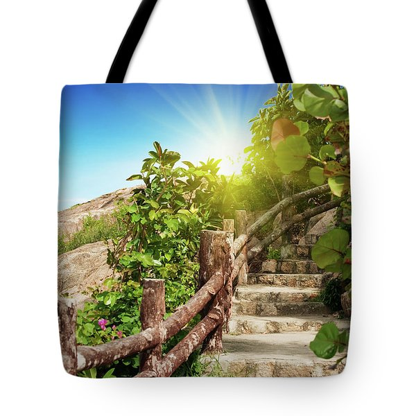 Tropical garden Tote Bag by MotHaiBaPhoto Prints
