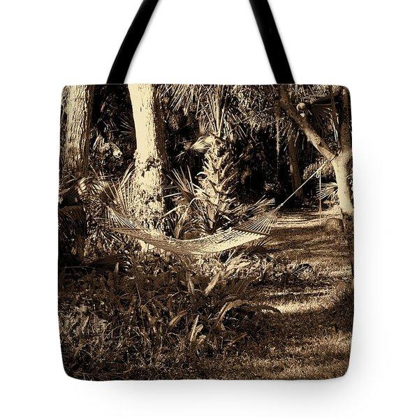 Tropical Hammock Tote Bag by Susanne Van Hulst