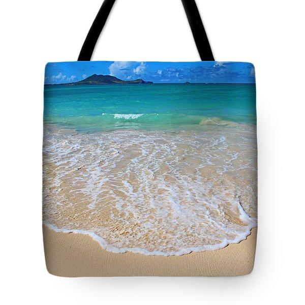 Tropical Hawaiian Shore Tote Bag by Kerri Ligatich