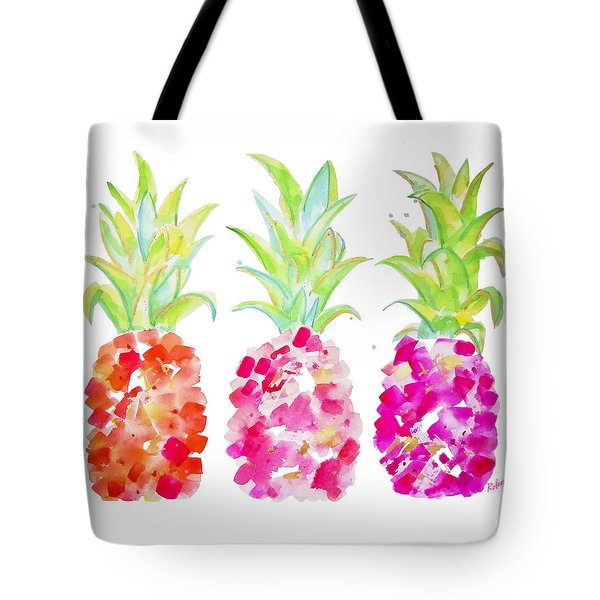 Tropical Pink And Gold Tote Bag by Roleen Senic