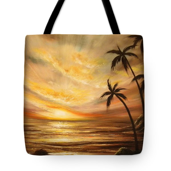Tropical Sunset 64 Tote Bag by Gina De Gorna