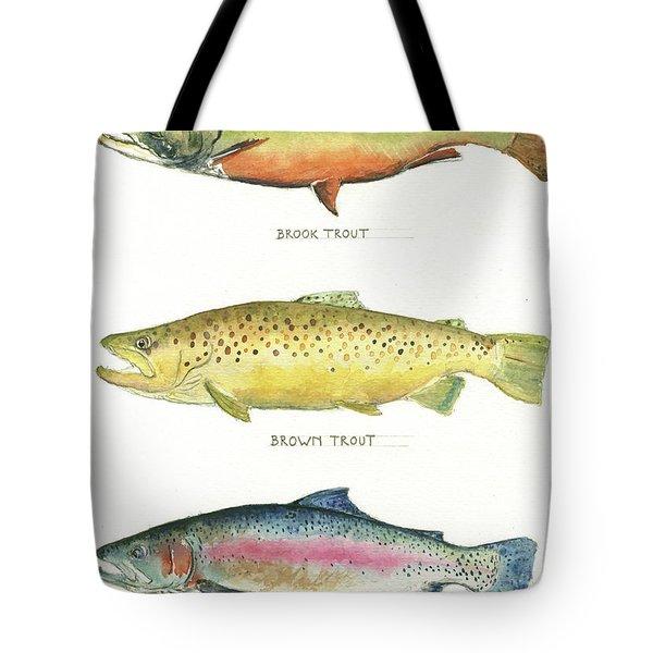 Trout Species Tote Bag by Juan Bosco