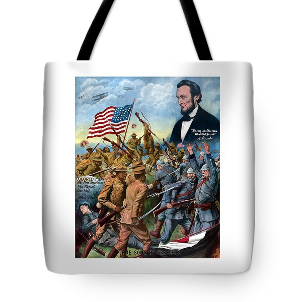 True Sons Of Freedom -- Ww1 Propaganda Tote Bag by War Is Hell Store