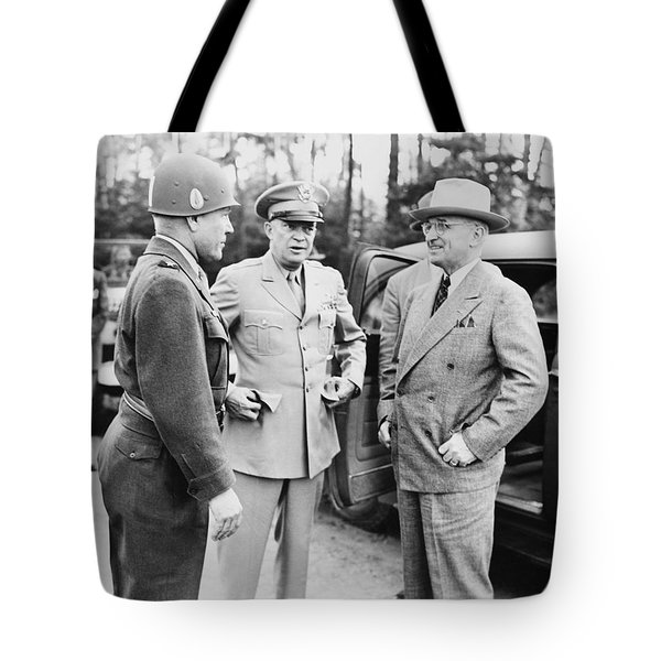 Truman Eisenhower And Hickey  Tote Bag by War Is Hell Store