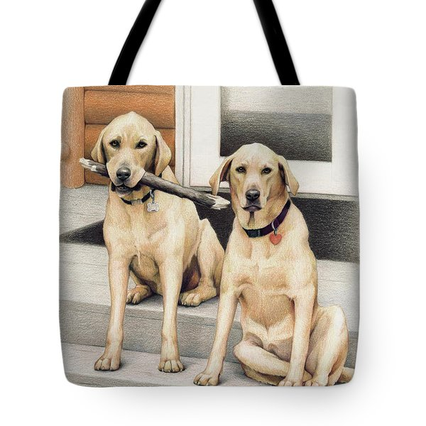 Tucker And Lily Tote Bag by Amy S Turner