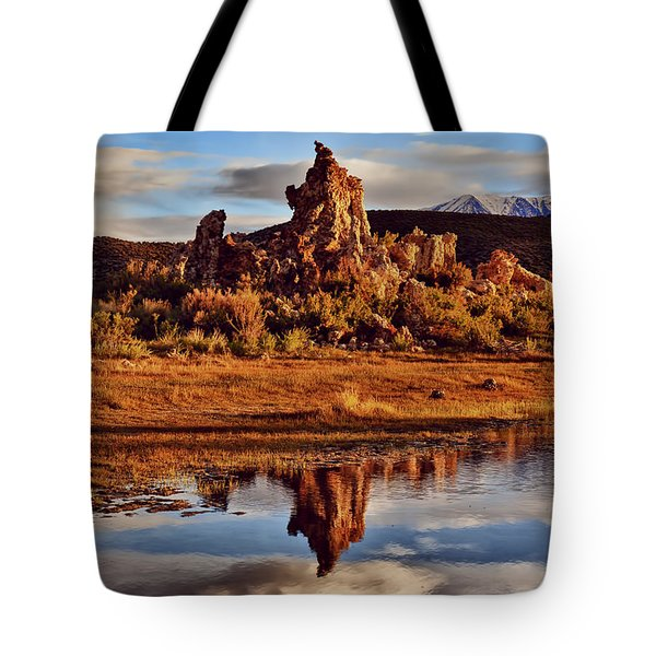 Tufa Mono Lake California Tote Bag by Garry Gay