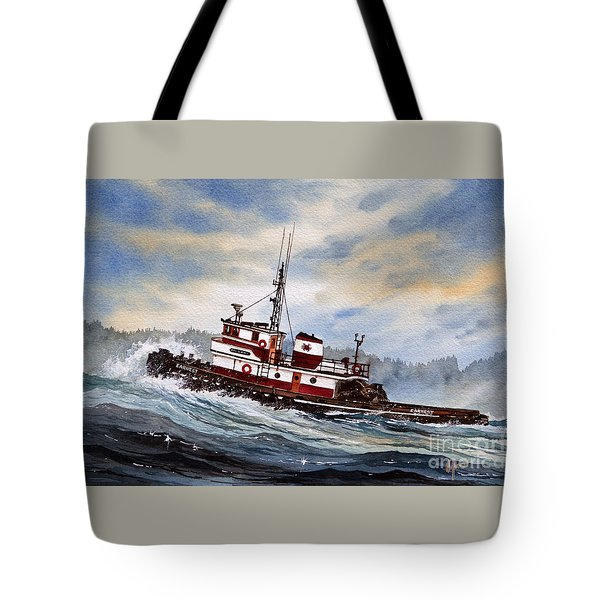 Tugboat Earnest Tote Bag by James Williamson