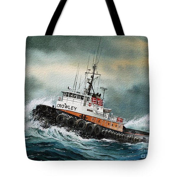 Tugboat Hunter Crowley Tote Bag by James Williamson