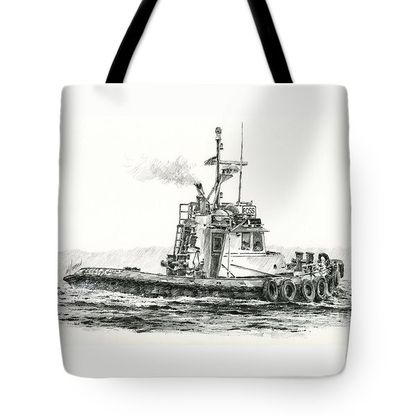 Tugboat Kelly Foss Tote Bag by James Williamson