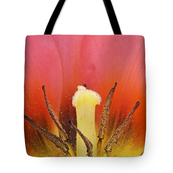 Tulip Center Tote Bag by Michael Peychich