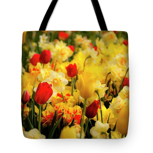 Tulips And Daffodils Tote Bag by Tamyra Ayles