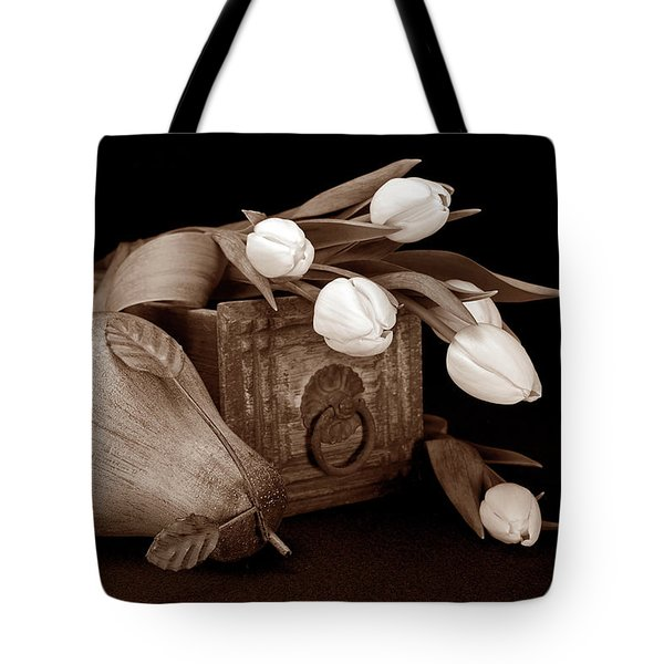 Tulips with Pear II Tote Bag by Tom Mc Nemar