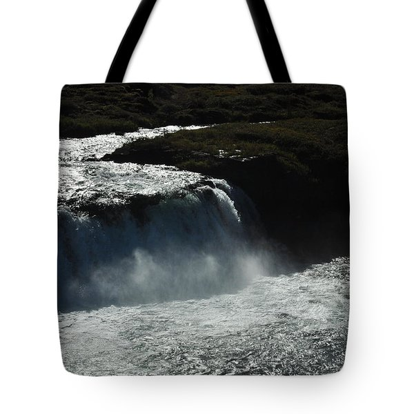 Tungufljot River And Faxi Falls Tote Bag by David Halperin