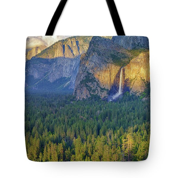 Tunnel View At Sunset Tote Bag by Rick Berk
