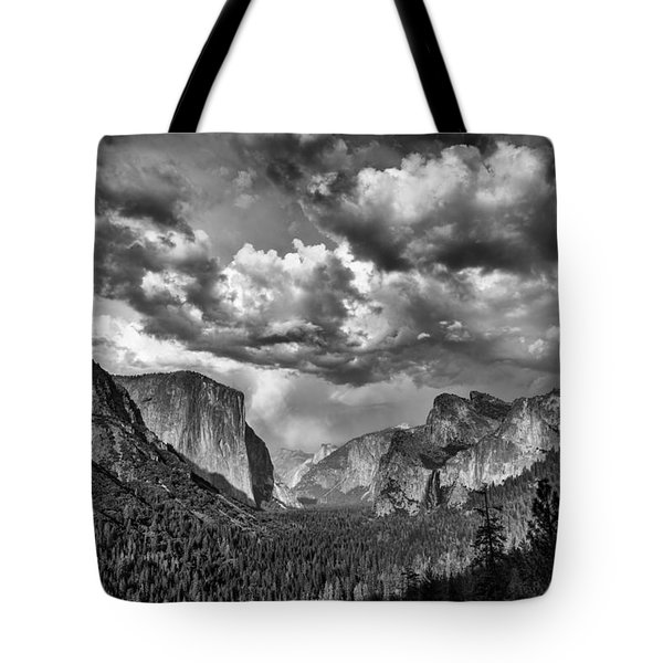 Tunnel View In Black And White Tote Bag by Rick Berk