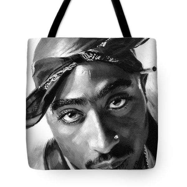 Tupac Shakur Tote Bag by Ylli Haruni