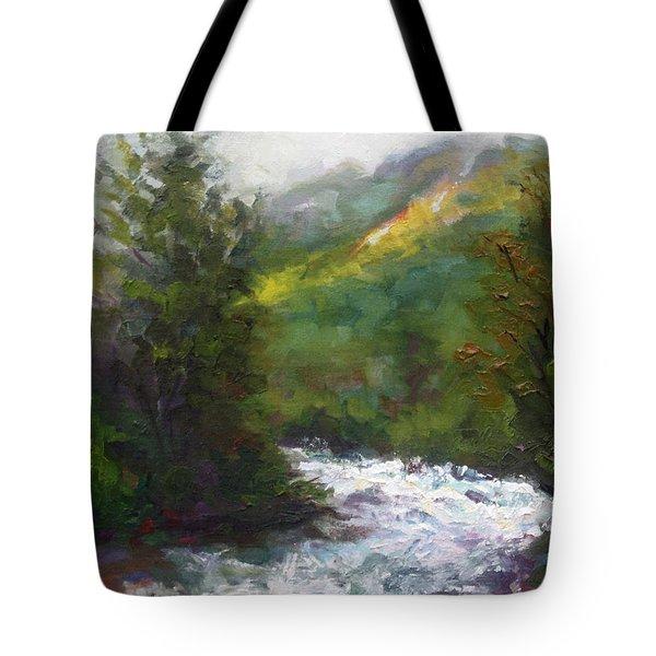 Turbulence Tote Bag by Talya Johnson