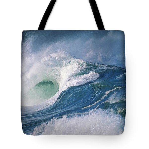 Turbulent Shorebreak Tote Bag by Vince Cavataio - Printscapes