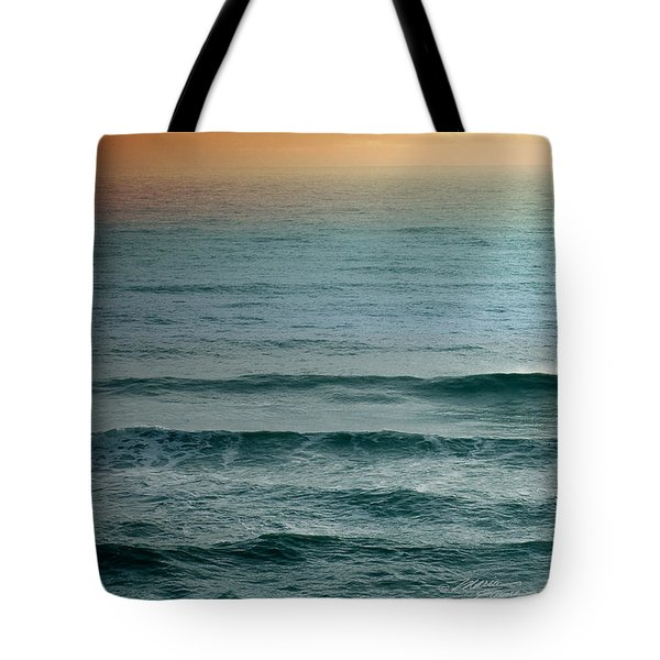 Turquoise Amber Sunrise Tote Bag by Maria Eames