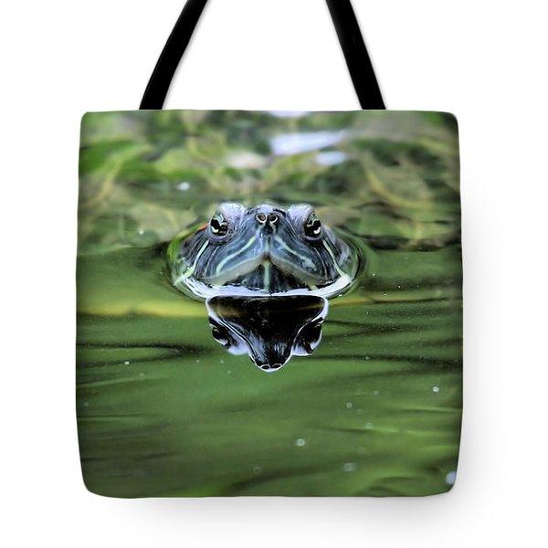 Turtle Head Tote Bag by Karol  Livote