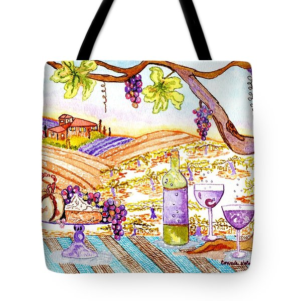 Tuscan Living In Style Tote Bag by Connie Valasco