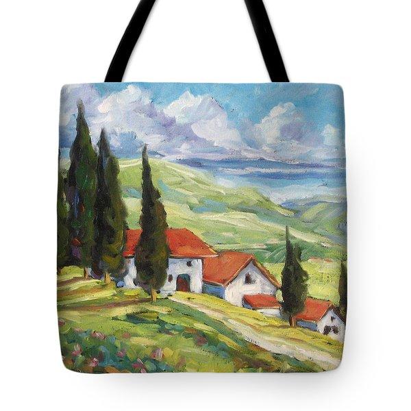Tuscan Villas Tote Bag by Richard T Pranke