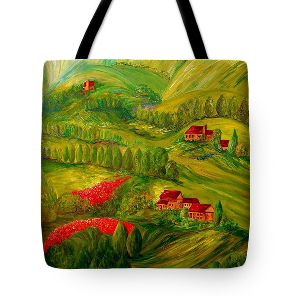 Tuscany at Dawn Tote Bag by Eloise Schneider